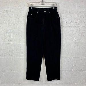 Liz Claiborne Mom Vintage Black Corduroy Pants.S:4